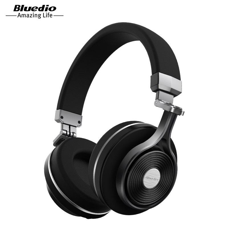 Bluedio T3 auriculares inalámbricos bluetooth/auriculares con Bluetooth 4,1 estéreo y micrófono para auriculares inalámbricos de música