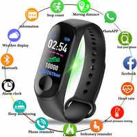 De deporte de moda banda inteligente reloj Monitor de ritmo cardíaco sangre presión Fitness Tracker nueva muñeca banda de hombres y mujeres pulsera