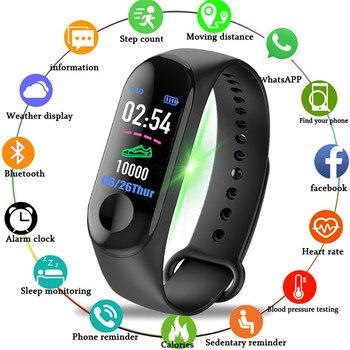 Mode Sport bande intelligente montre moniteur de fréquence cardiaque pression artérielle Tracker nouvelle bande de poignet hommes et femmes montres