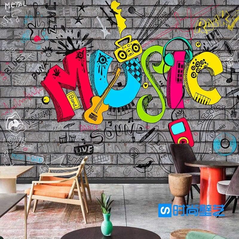 Photo Wallpaper 3D European Style Creative Art Music
