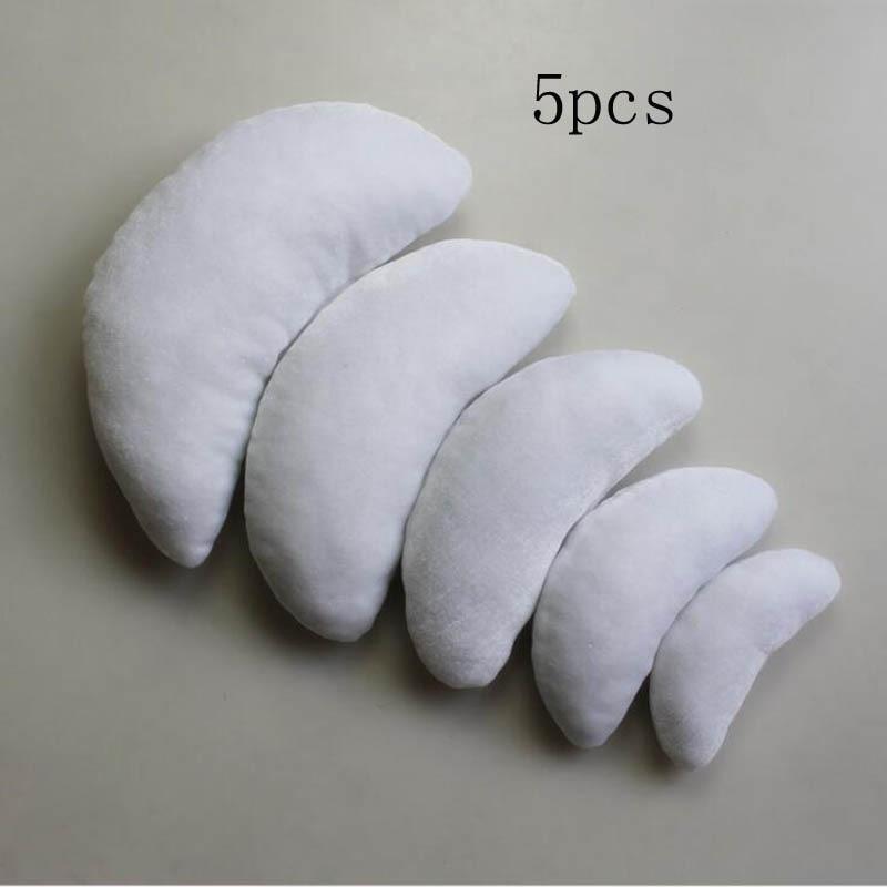 Новорожденный ребенок фото реквизит профессиональная позирующая подушка в форме полумесяца фотосъемка позиционер набор Белый хаки серый - Цвет: white 5pcs
