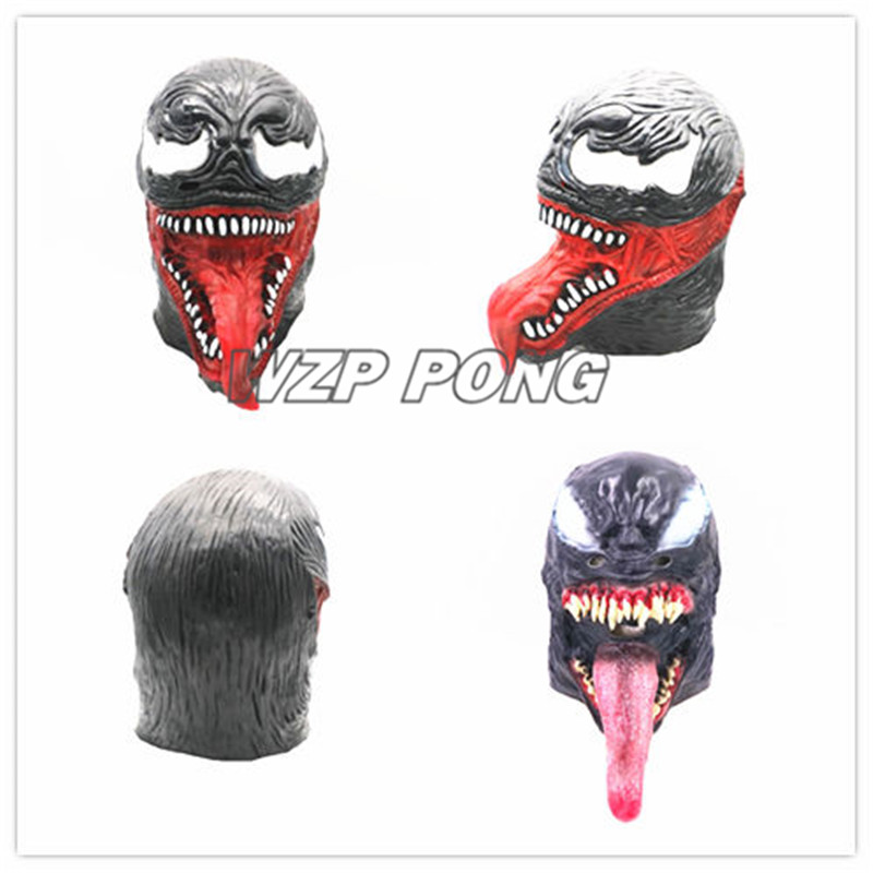 In Design; New Spider-man The Venom Mask Cosplay Edward Dark Venom Latex Masks Helmet Halloween Party Props Brinquedos Gift Novel