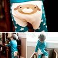 Bonito Unisex Primavera E Outono Crianças Roupas Meninos Meninas Harem Pants Crianças Calças de Algodão Dos Desenhos Animados Calças Do Bebê