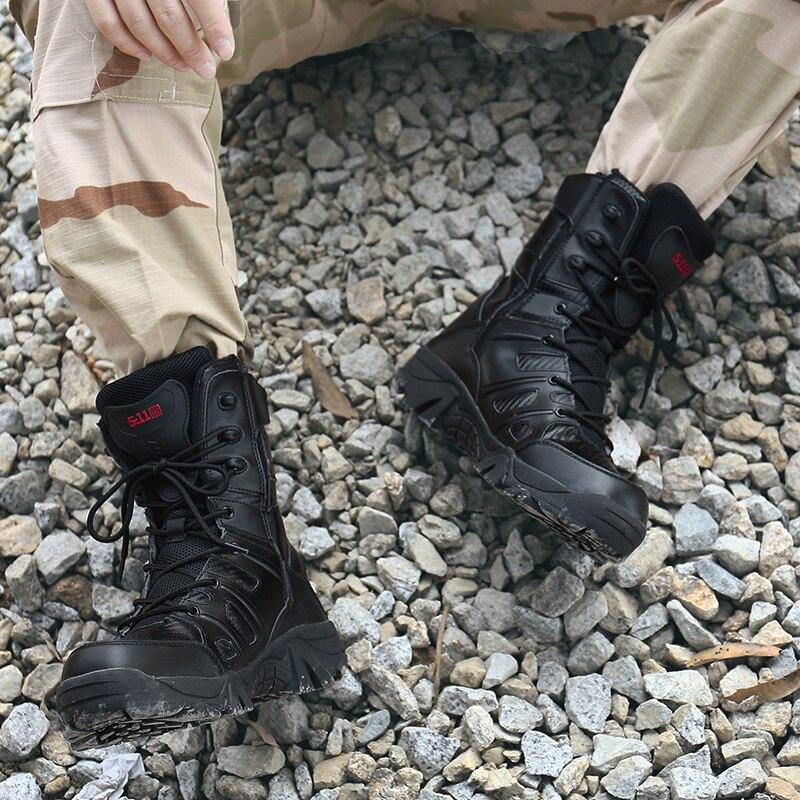 Plus 12 Zip Étanche 3 L'armée Mens 4 5 2 9 10 13 Combat En Air 7 Taille black1 Bottes De Côté La 11 Randonnée 6 8 Militaire Plein 14 HIE29WDY