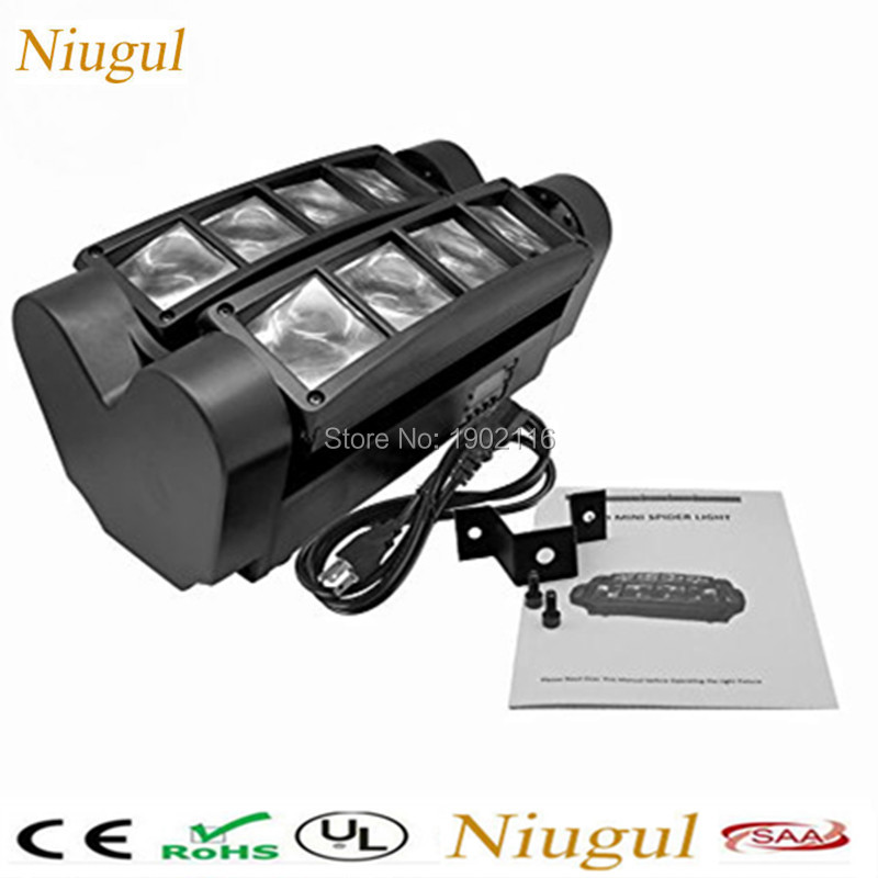 Niugul Wholesale Mini ed spider light LED beam light KTV disco dj lighting DMX512 professional LED effect stage light chandelier niugul 10w rgbw mini led beam moving head light 10w led beam lamp nightclub bar lights dmx512 stage effect light 10w dj lighting