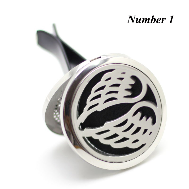 New Arrival Car Diffuser Locket 38mm Magnetics Diffuser 316 Stainless Steel Perfume Lockets Car Aromatherapy Diffuser Lockets