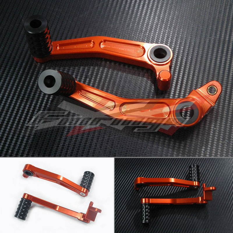 FREE SHIPPING CNC Aluminium Brake Clutch Gear Pedal Lever FIT For KTM DUKE 125 200 2012 O1 motorcycle front rider seat leather cover for ktm 125 200 390 duke