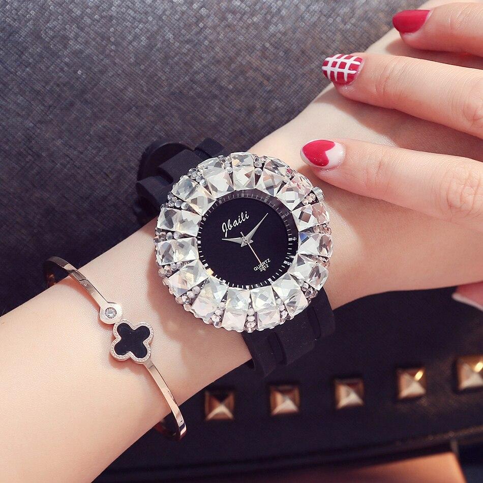 Fashion Crystal Bracelet Women's Watches Brand Luxury Diamond Silicone Ladies Watch Women Quartz-watch Gift Relogio Feminino 2016 women diamond watches steel band vintage bracelet watch high quality ladies quartz watch