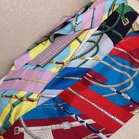 Belts Print 100% Twill Silk Scarf Neckerchief Women Ladies Fashion Long Silk Scarves Wraps Foulard 160x20cm