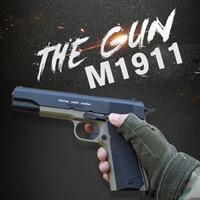 Simulation M1911 Water Bullet Gun Toys For Children Manual Hand Pistol Soft Paintball Guns Weapon Shooting Outdoor Guns for Boys