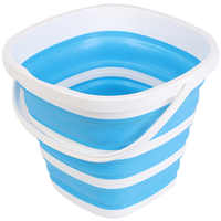 LBER 10L Silicone Bucket For Fishing Folding Collapsible Bucket Car Wash Outdoor Fishing Square Barrel Bathroom Kitchen Camp B