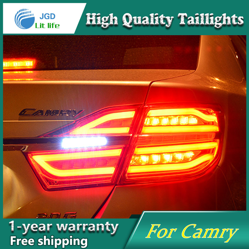 Car Styling Case for Toyota Camry 2015 2016 Taillights Tail lights LED Tail Lamp Rear Lamp DRL+Turn Signal+Brake+Reverse free shipping vland car tail lamp for toyota camry led taillight 2015 2016 drl signal reverse lamp