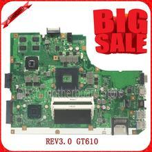 Лидер продаж! Для K55VD A55V плата REV3.0 GT610 для ASUS K55VD A55V плате неинтегрированный 100% тестирование материнской платы