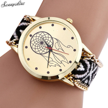 Dreamcatcher Friendship Bracelet Women Watches Braid Dress wristwatch Gift Bracelet wholesale