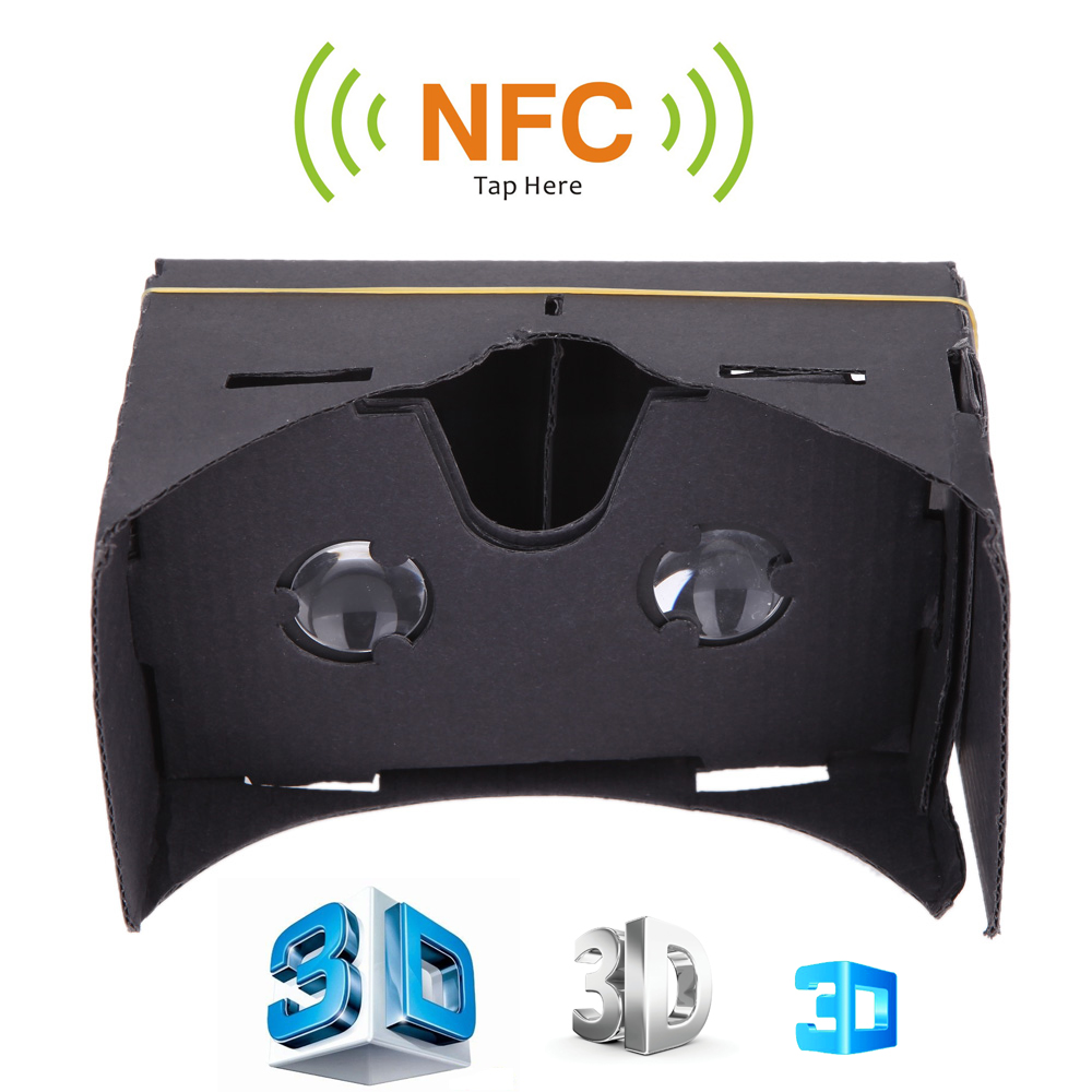 DIY for Google Cardboard VR Virtual Reality 3D Video Glasses with NFC Head Mount Hands-free for 3.5 ~ 6 Smart Phones