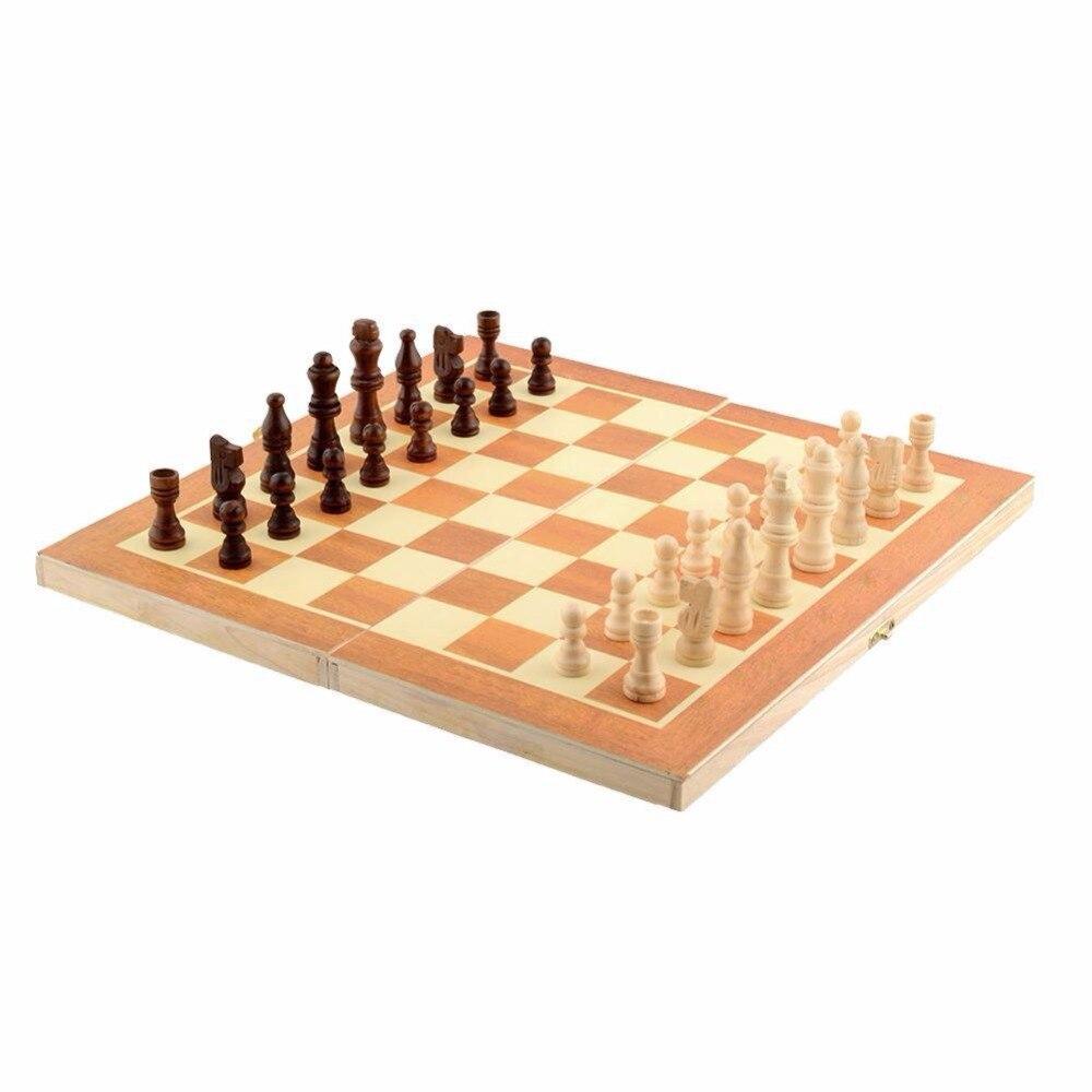 lustige klassischen holz internationalen schachspiel brettspiel