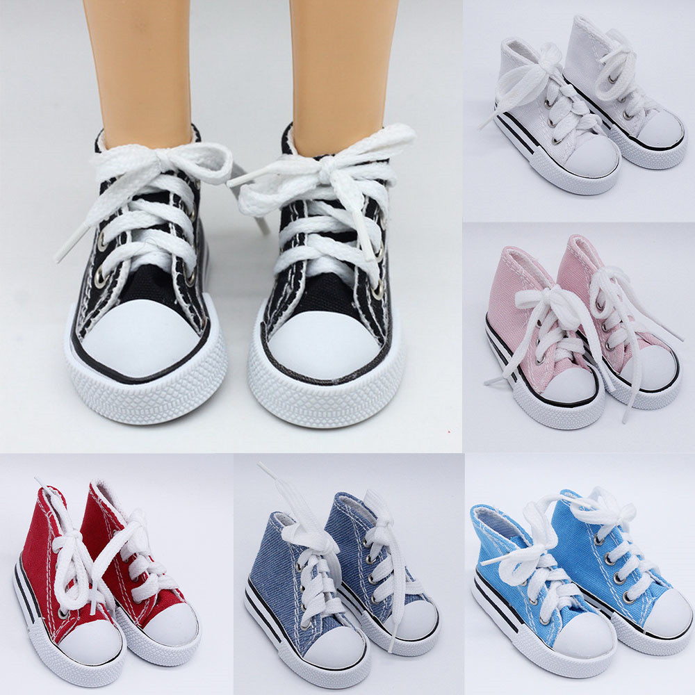 1/3 Doll Shoes 7.5cm Canvas Shoes For BJD Doll Fashion Mini Shoes For Russian DIY Handmade Doll Accessories