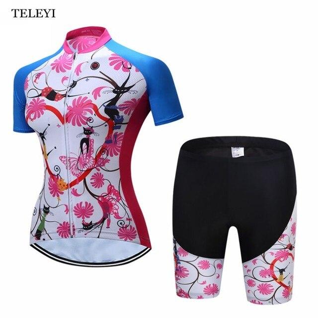 2017 TELEYI Ropa Ciclismo Women Cycling Jerseys MTB Bike Clothing Rock  Racing Bicycle Clothes  Girls Cycling Clothing 5771afe8a