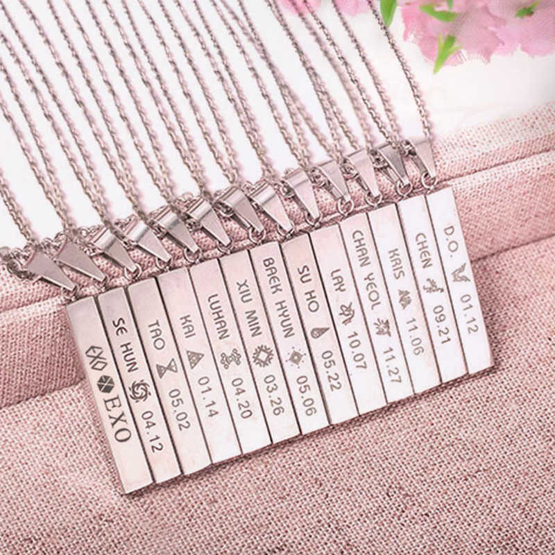 Youpop KPOP EXO EX'ACT Monster Lucky One Chain Pendant Necklace K-POP Accessories Jewelry For Music Men Or Women Boy Girl