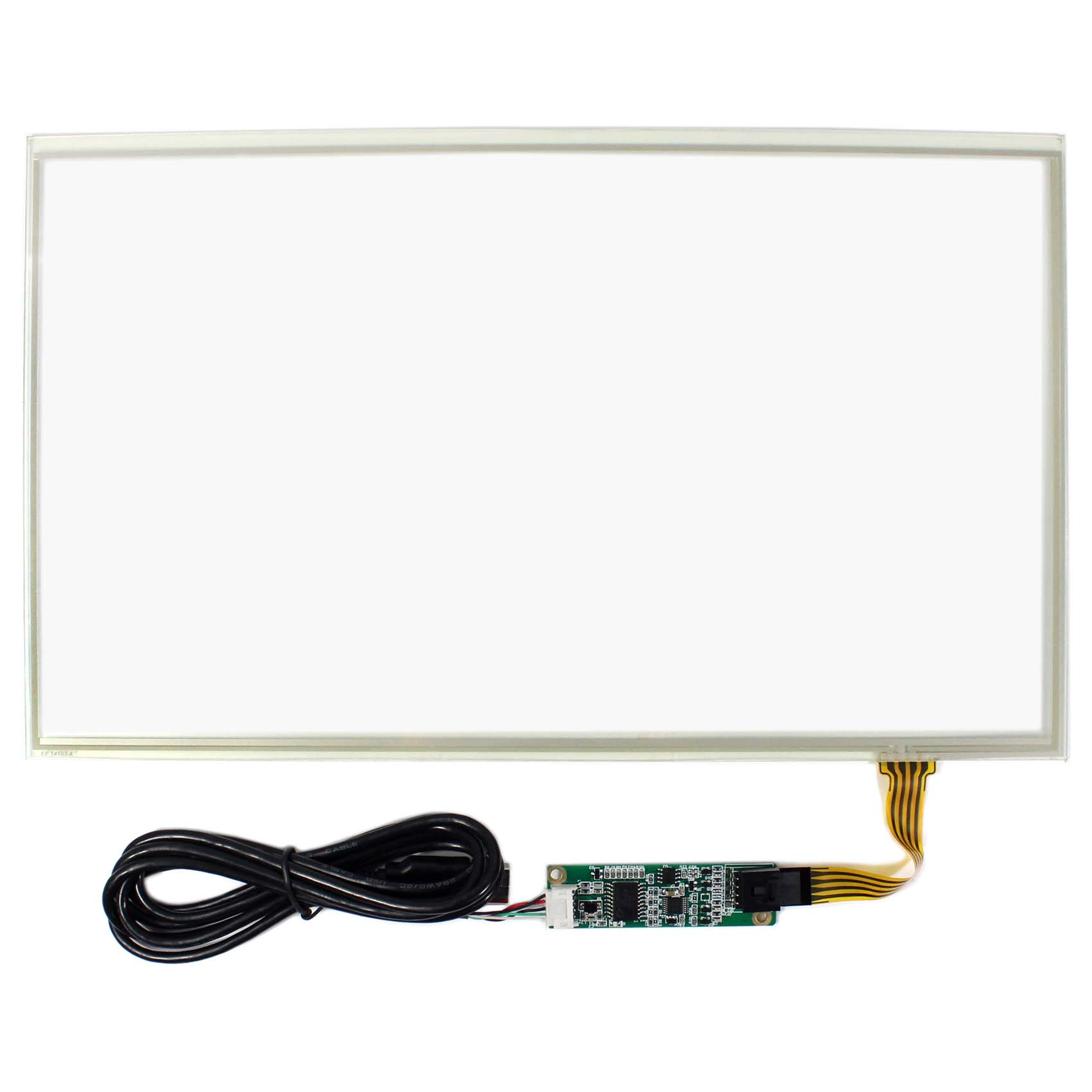 14 1inch 4 wire resistive touch panel with controller for 14inch 1366x768 lcd screen