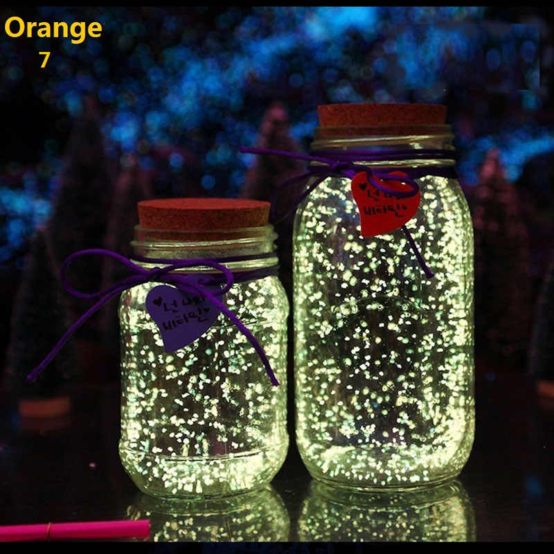 Fish Tank Noctilucent Sand Night Luminous Dark Bright Glow Fluorescent Particles Aquarium Fish Tank Decoration 4 Colors