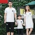 Семьи соответствующие наряды мать / мама и дочь соответствующие платье семья одежда отец и сын футболка одежда семья стиль CH68