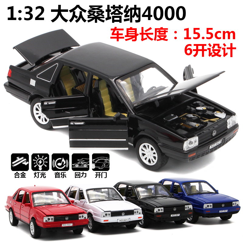 1:32 Toy Car Santana 4000 Metal Toy Alloy Car Diecasts & Toy Vehicles Car Model Miniature Scale Model Car Toy For Children
