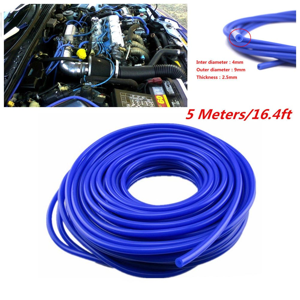 New 4mm Silicone Vacuum Tube 16.4ft/5M Hose Tubing Car Cooling System Hose Accessories image