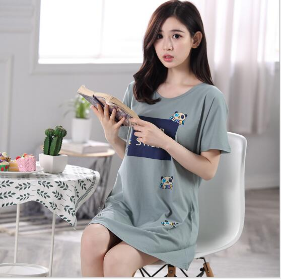 Detail Feedback Questions about Fashion Women Cotton Nightgowns Sleepshirts  2018 Summer Home Dress Animal Sleepwear Loose Comfortable Nightdress Indoor  ... de46283fd