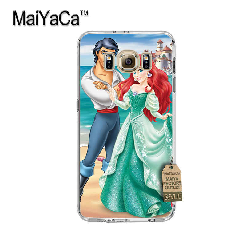 Maiyaca Putri Ariel Little Mermaid Putri Salju Fundas Ponsel Case PENUTUP UNTUK SAMSUNG Galaxy S8 S7 S6edge Plus S5 S9 Case