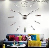 Lớn MỚI Đồng Hồ Treo Tường 3D Kim Loại & EVA Bọt & Mirrors Acrylic Stickers, lớn tường nhà thiết kế tường đồng hồ creative sticker, quà tặng độc đáo