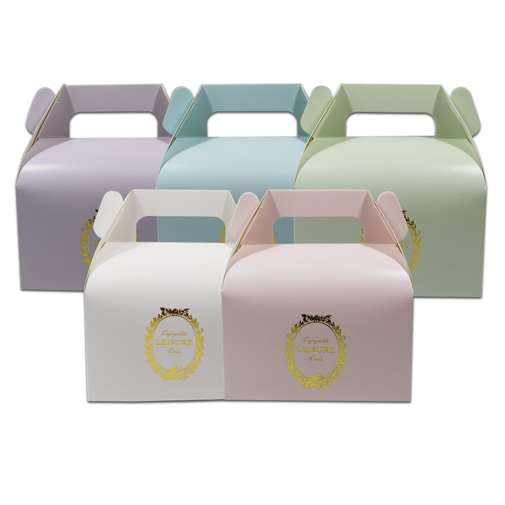 30pcs 13*8.5*8cm Printed Paper Cake Cupcake Box Packaging With ...