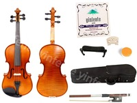 Professional Violin hand Made Flame Maple Spruce wood 4/4 Full Size Yinfente