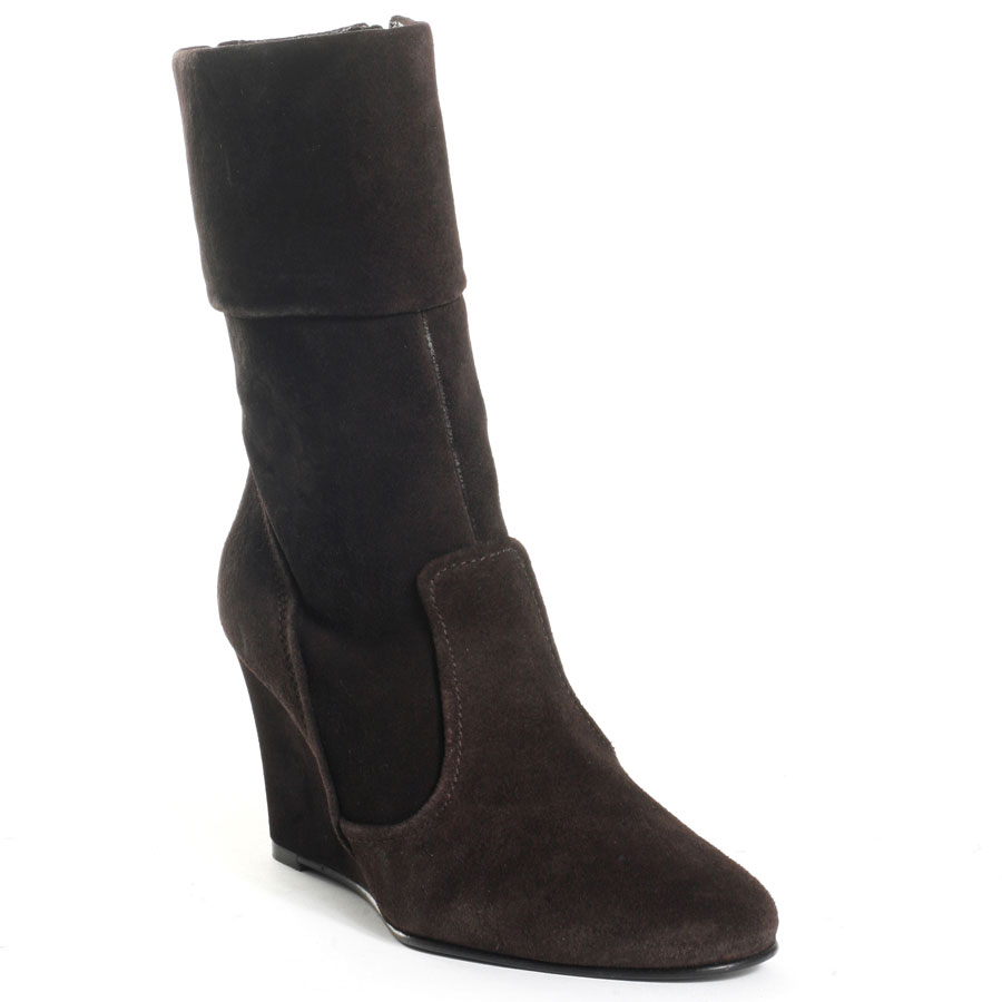 Black Women Boots Suede Faux Leather Winter Warm Short Boots Wedge Platform Heels Pointed Toe Made-to-order Plus Size Shoes