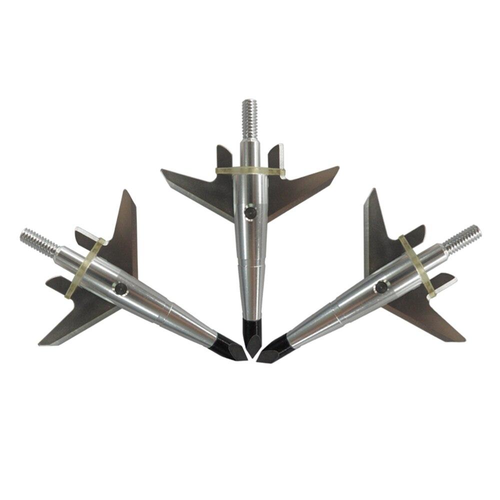 3Pcs Silver Swhacker Broadheads 2 Blade 100Grain Arrowhead Target Hunting