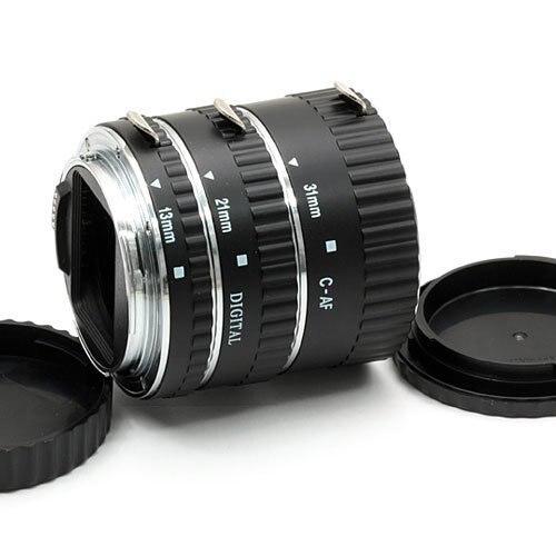 Mcoplus Métal Autofocus D'extension Macro Tube EF EF-S pour Canon 5D Mark II III 6D 7D 50D 60D 70D 550D 600D 1100D T3i T4i T5i