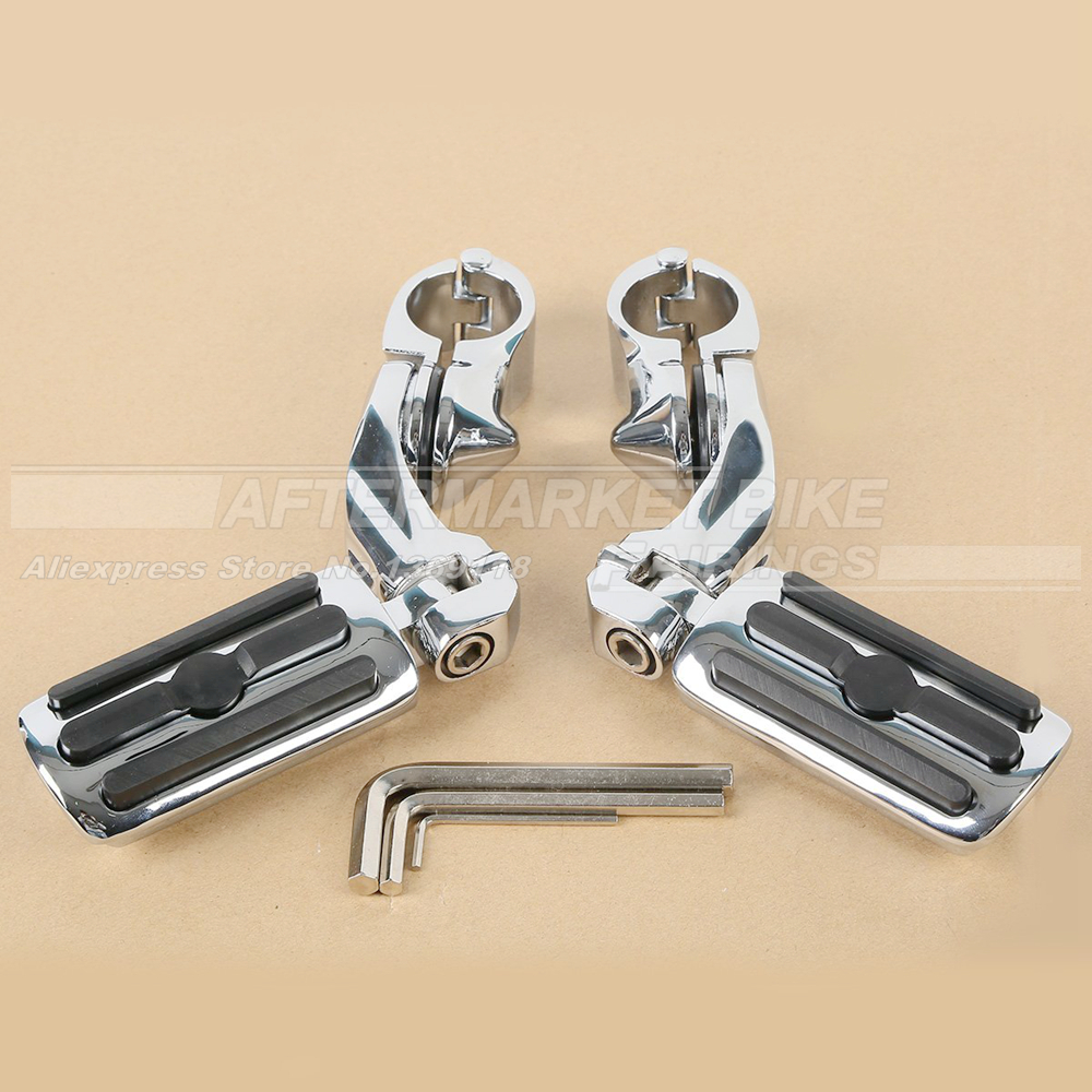 Motorcycles 1.25 Highway Footrest Foot Pegs For Harley Dyna Sportster 1-1/4