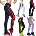 sexy Leggings 2017 summer NEW Hot Women's fashion Leggings Side Letter Hip sporting Leggings Ladies' Printed Leggings plus size