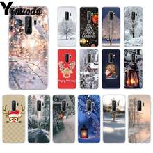 Yinuoda Landscape Winter Light Snow Christmas  Smart Cover Transparent Soft Shell Phone Case for samsung galaxy S9 plus S6 edge