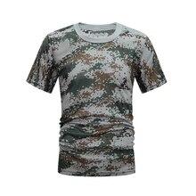 Охотничья камуфляжная рубашка, тактическая камуфляжная дышащая быстросохнущая рубашка, Свободные повседневные футболки, одежда для армейских охотничьих мужчин и женщин