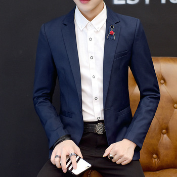 In the spring of 2020 the new men's leisure blazer fashion youth pure color blazer