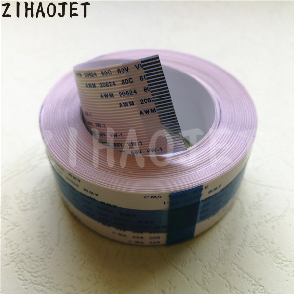 Printer Parts Eco Solvent Printer DX5 Data Cable Galaxy Yinhe UD-181//1812LA FFC Long Data Cable 20Pins