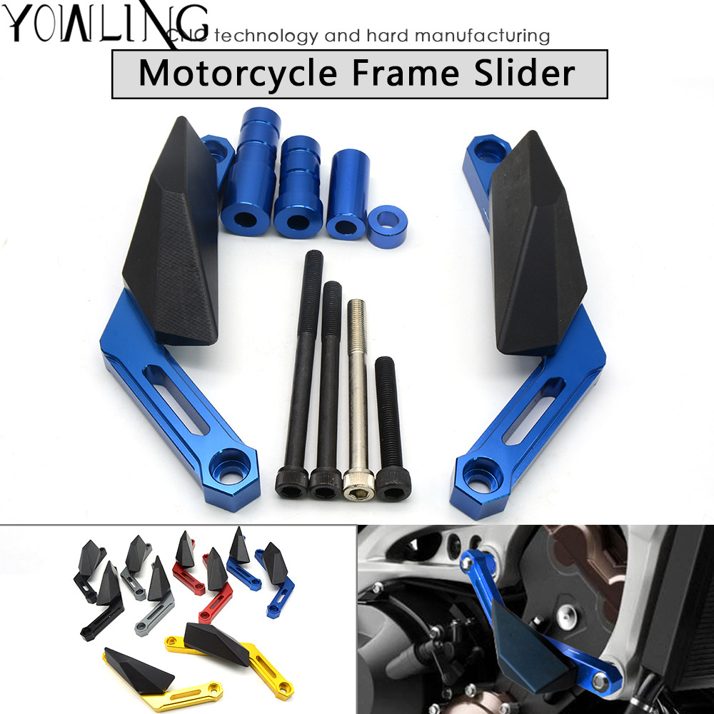 MT-09 billet modified Frame Sliding Block Motorcycle Crash Protection Engine For Yamaha MT-09 2013 2014 2015 2016