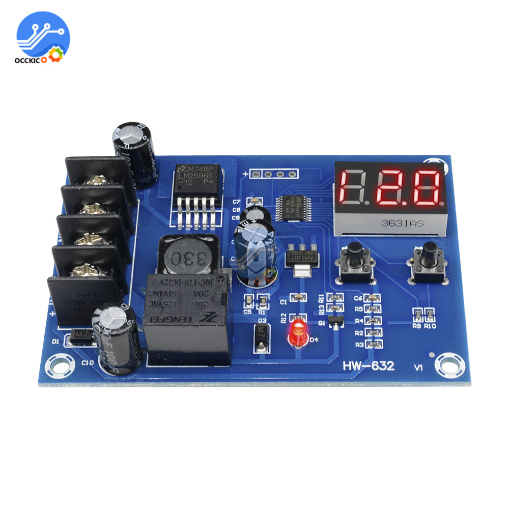 XH-M603 Lithium Battery Charger Protection Board With Digital LED Display Battery Charging Switch Control Module Power Balancer