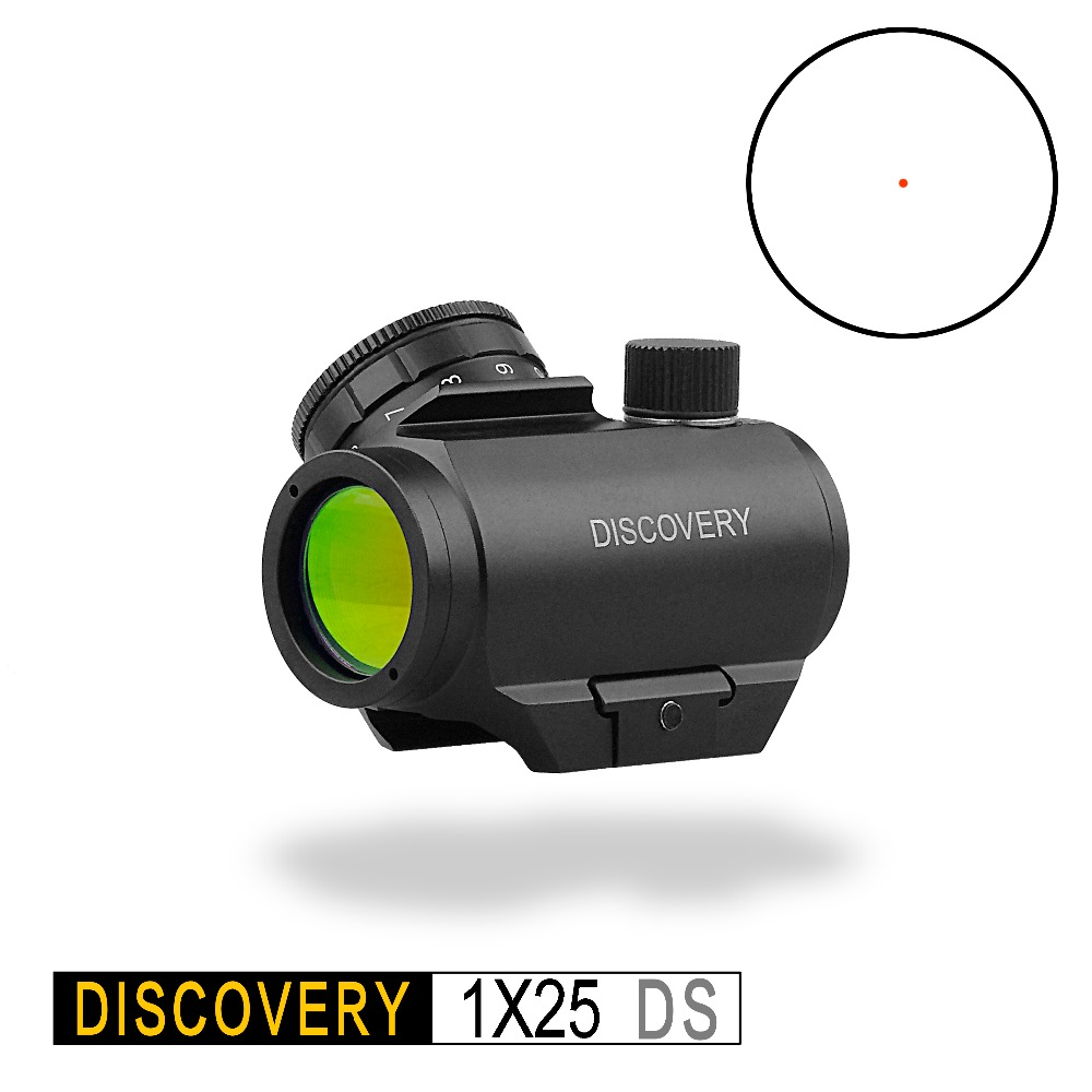 Discovery Red Dot 1X25 DS Holographic Optical Sight Tactical Hunting Rifle Scope Collimator For AK47 AR15 Fit Picatinny 20mm RaI