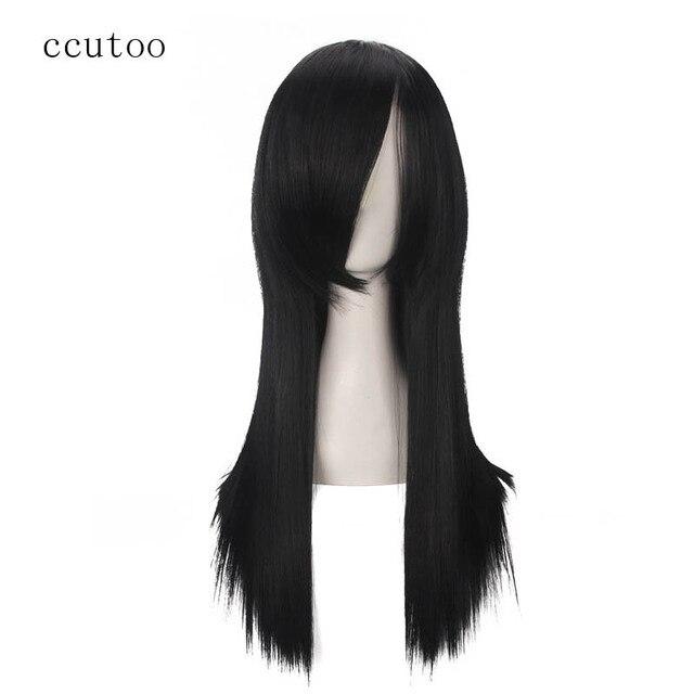 Perruque synthétique longue lisse noire 60cm/23.6 pouces ccutoo Orochimaru