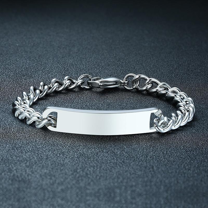 Blank ID Bracelet Stainless...