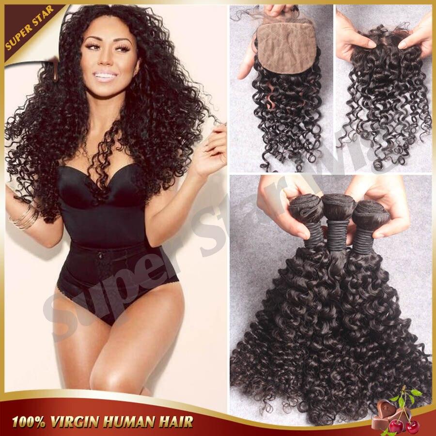 ФОТО Brazilian Deep Curly Silk Base Closure With Bundles Human Hair Bundles With Silk Closures,Brazilian Human Hair With Silk Closure