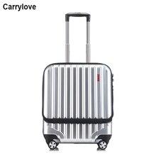 "CARRYLOVE 1"" дюймов бизнес кабина чемодан передний карман сумка на колесиках с сумкой для ноутбука"