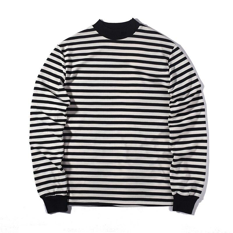 Moda camiseta rayada suelta streetwear Verano de gran tamaño extender  camiseta diseñador de manga larga de algodón otoño fresco ee.uu. tamaño Casu 72d3bcdad4e5